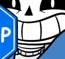 Undertale: Sans holding STOP sign Sticker Sticker