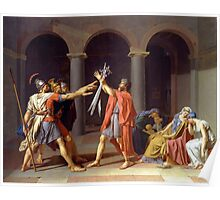 Oath of the Horatii by Jacques-Louis David (1784) Poster