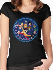 Sailor Moon :: The Universe's Protectors Women's Fitted Scoop T-Shirt