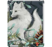 Arctic Fox Holiday Portrait iPad Case/Skin
