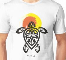Tribal Turtle, Maui Sun Unisex T-Shirt