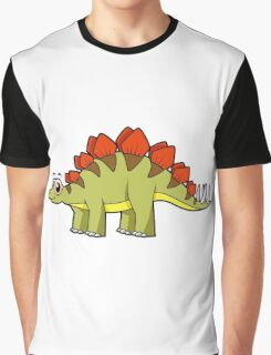 Cute illustration of a Stegosaurus dinosaur. Graphic T-Shirt