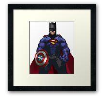 Superhero combo Framed Print
