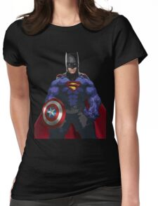 Superhero combo Womens Fitted T-Shirt