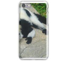 """Black and White Ruffled Lemurn"" Artwork by Carter L. Shepard iPhone Case/Skin"