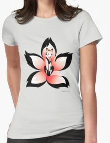 Hana (Flower) Kitsune Womens Fitted T-Shirt