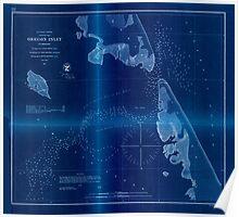 Civil War Maps 1227 Oregon Inlet N Carolina Inverted Poster