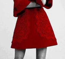 Jenna Coleman in Red Sticker
