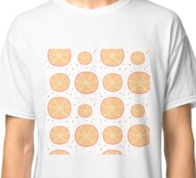 Pattern with fresh grapefruit slices Classic T-Shirt