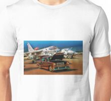 Chevy Bel Air and Military Planes Unisex T-Shirt