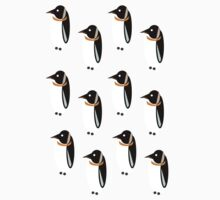 Penguin Pattern Kids Clothes