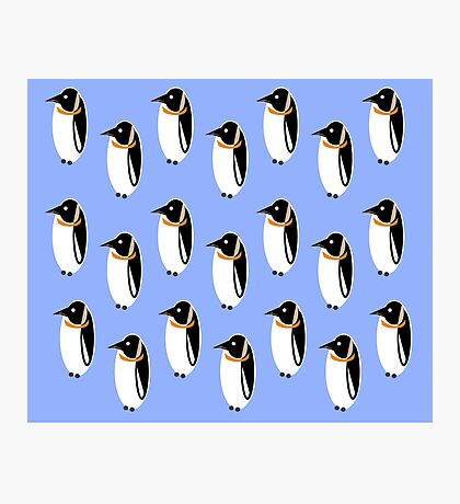 Penguin Pattern Photographic Print