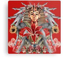 King Tut Floral Graphic Metal Print