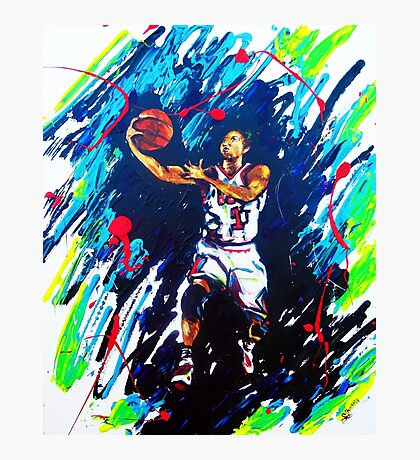 Derricks Rose Chicago Bulls Photographic Print