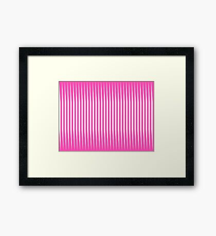 """""""White & Pink"""" Abstract Framed Print"""