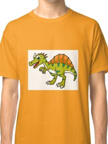 Cute illustration of a smiling Spinosaurus. Classic T-Shirt