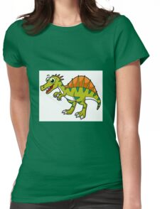 Cute illustration of a smiling Spinosaurus. Womens Fitted T-Shirt