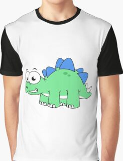 Cute illustration of a Stegosaurus. Graphic T-Shirt