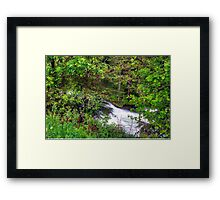 Spring meets winter in the Alps Framed Print