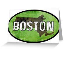 Boston Green Greeting Card