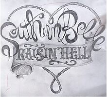 Southern Belle Raisin' Hell Photographic Print