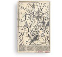 Civil War Maps 0870 Map of the battlefield of Gettysburg Canvas Print