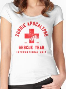 Zombie Apocalypse Rescue Team Women's Fitted Scoop T-Shirt