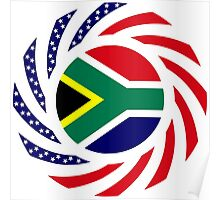 South African American Multinational Patriot Flag Series Poster