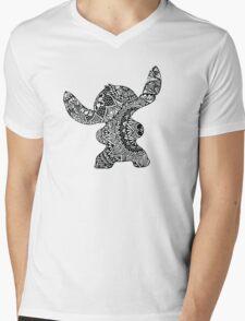 Stitch Zentangle Mens V-Neck T-Shirt