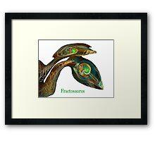 Fractosaurus Framed Print