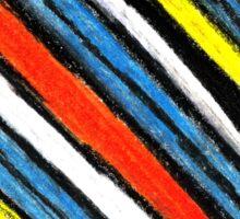 Colored Stripes (original drawing) Sticker