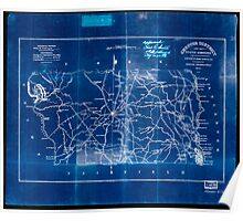 Civil War Maps 0270 Chester District South Carolina Inverted Poster