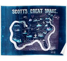 Civil War Maps 1559 Scott's great snake Entered according to Act of Congress in the year 1861 Inverted Poster