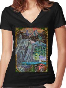 The Gates of Argonath Women's Fitted V-Neck T-Shirt