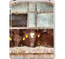 Cows at the window iPad Case/Skin