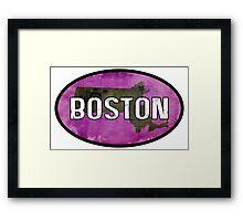 Boston Purple Framed Print