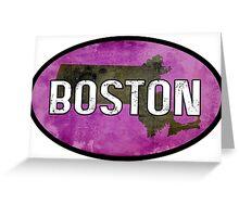 Boston Purple Greeting Card