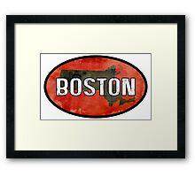 Boston Red Framed Print