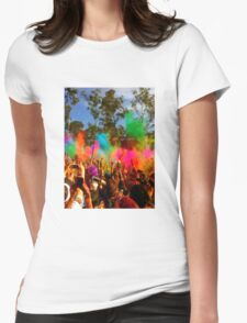 Colourful Happiness Womens Fitted T-Shirt
