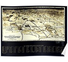 Civil War Maps 0027 Aero view of Chickamauga and Chattanooga National Military Park looking east Inverted Poster