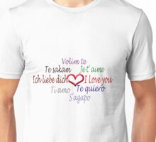 Love in 8 languages :) Unisex T-Shirt