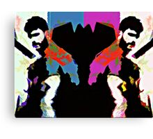 Bearded Poppy Duo #1 Canvas Print