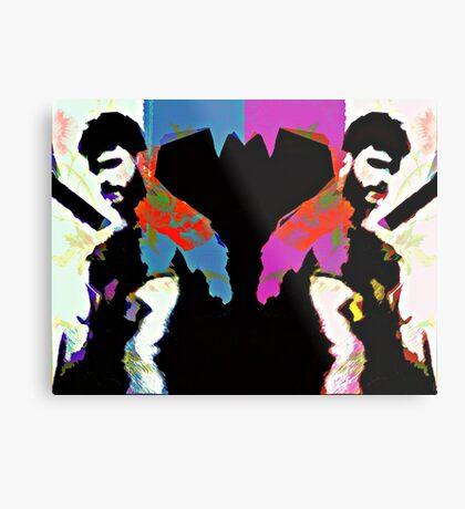 Bearded Poppy Duo #1 Metal Print