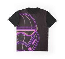 Neon Storm Face Graphic T-Shirt