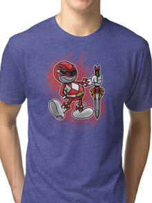 Vintage Red Ranger Tri-blend T-Shirt
