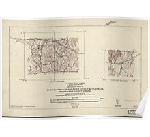 Civil War Maps 1833 Topographic maps of Chancellorsville and Salem Church battlefields Spotsylvania County Virginia Poster