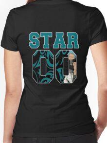 Black*Star 00 #1 Women's Fitted V-Neck T-Shirt