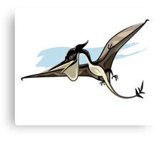 Illustration of a Pteranodon dinosaur. Canvas Print