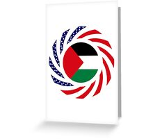 Palestinian American Multinational Patriot Flag Series Greeting Card