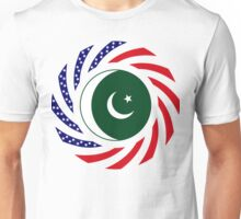 Pakistani American Multinational Patriot Flag Series Unisex T-Shirt